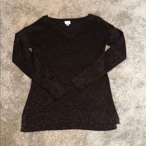 A New Day (Target) black metallic sweater